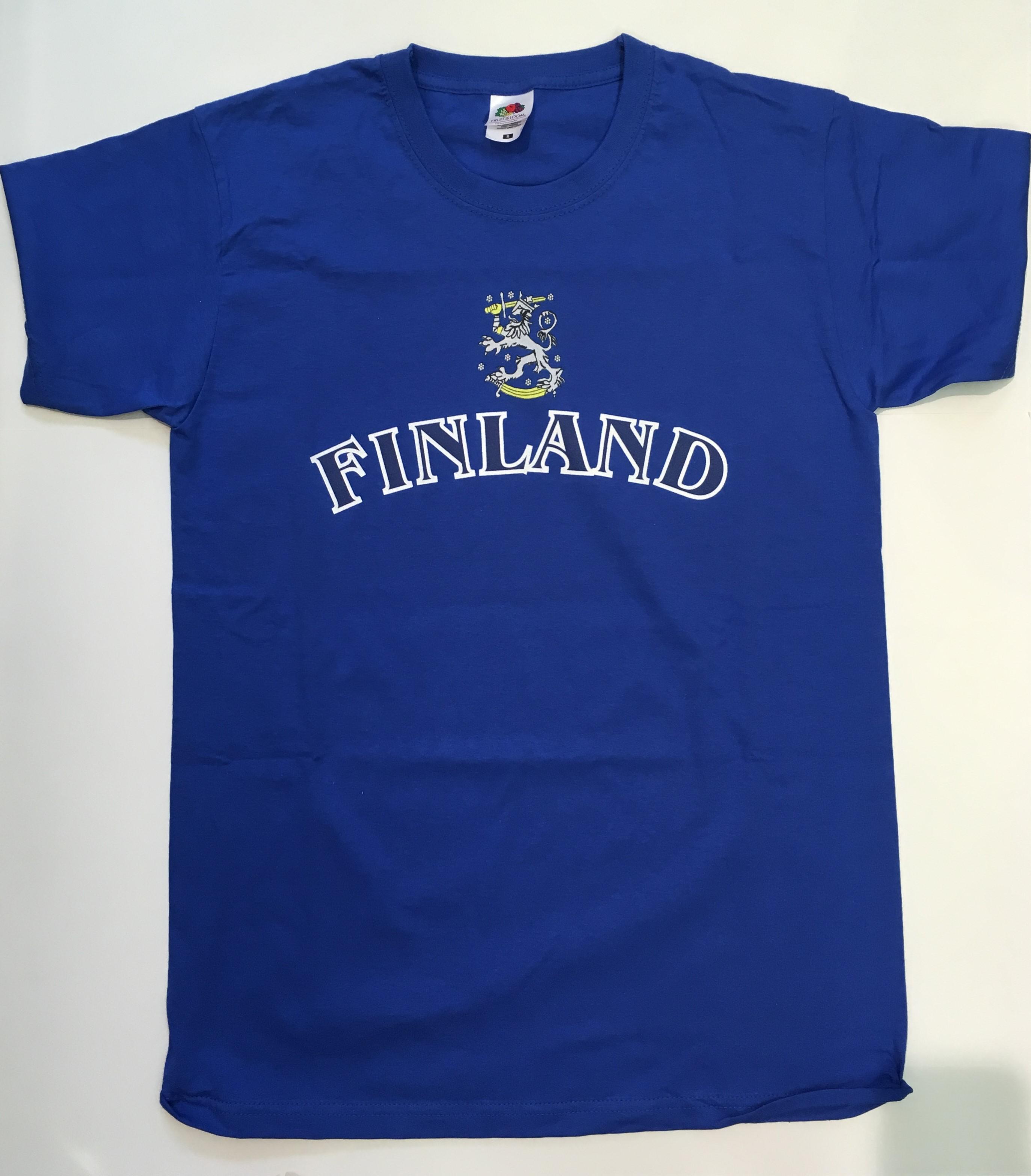 Футболка синяя Finland