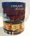 Сувенирная керамическая кружка - Finland Helsinki