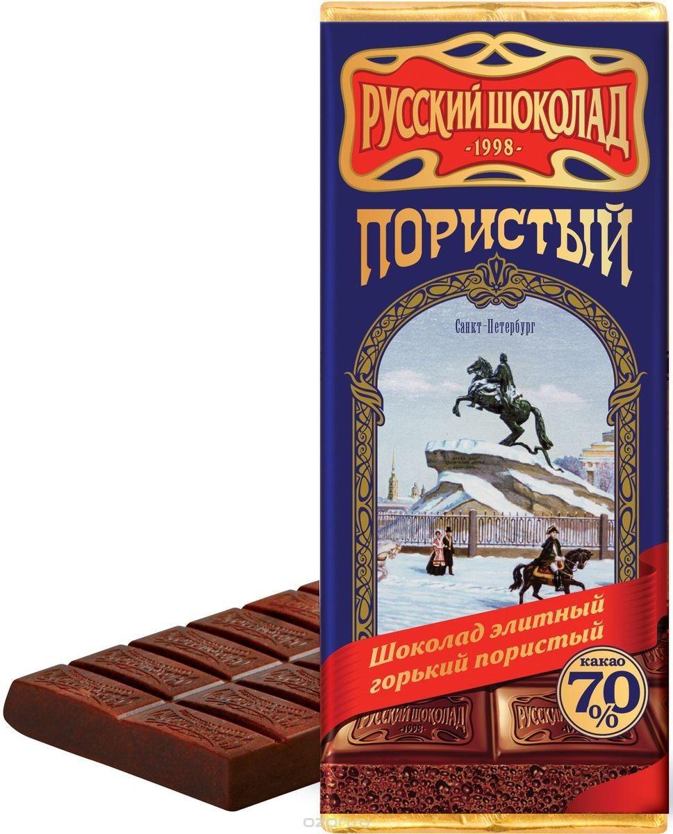 Dark porous chocolate, 90 g
