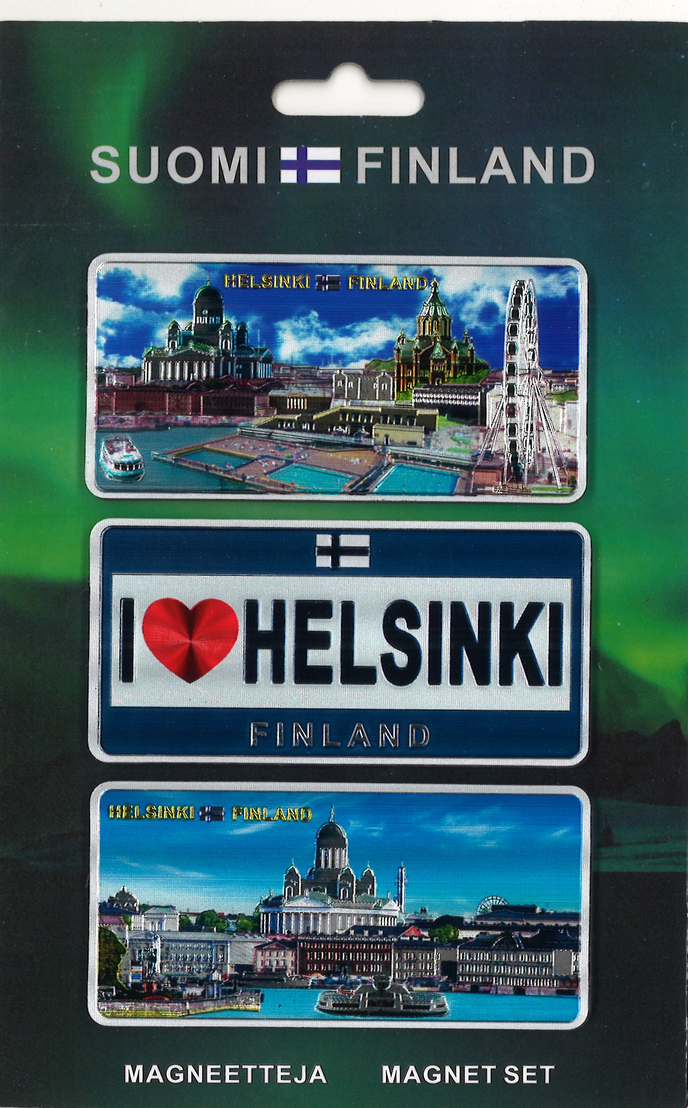 Magnets 3 pieces Helsinki - Finland