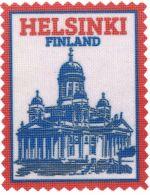 Iron-on patch Helsinki Finland