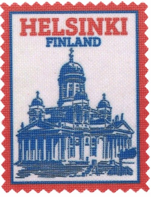 Iron-on patch Helsinki Finland