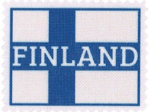Iron-on patch Finland