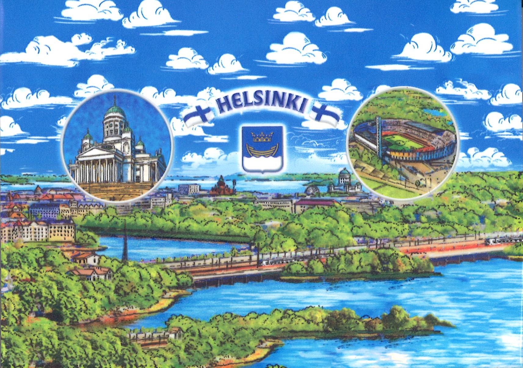 Embossed postcard - Helsinki