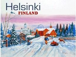 Postcard Helsinki Finland winter