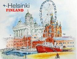 Postikortti Helsinki Finland