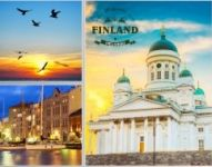 Открытка коллаж Welcome to Finland Helsinki