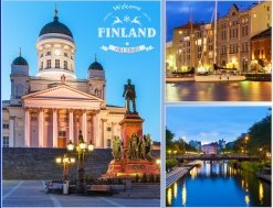 Postcard Welcome to Finland Helsinki