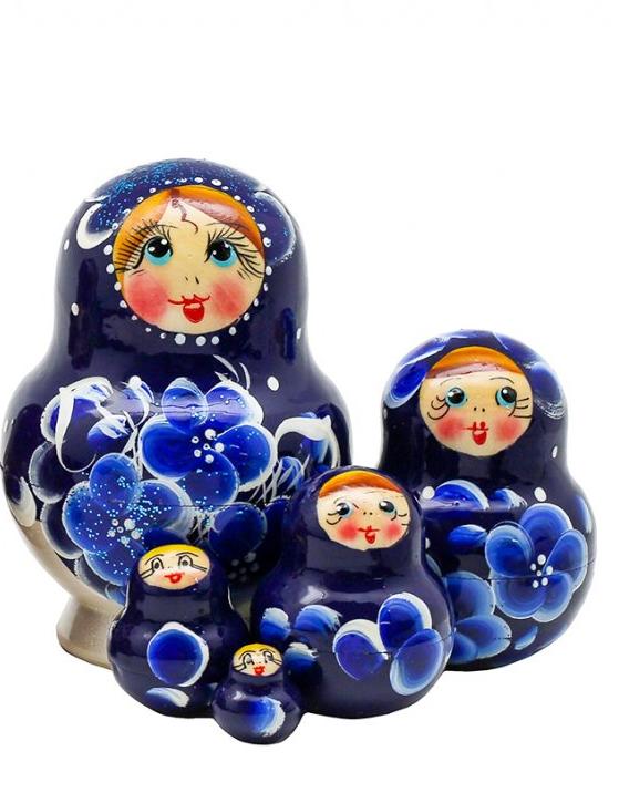 Matreshka Matryoshka (Nesting doll) Flower print  (Art. 499)