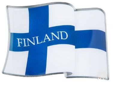 Magnet - Flag of Finland Metal magnet