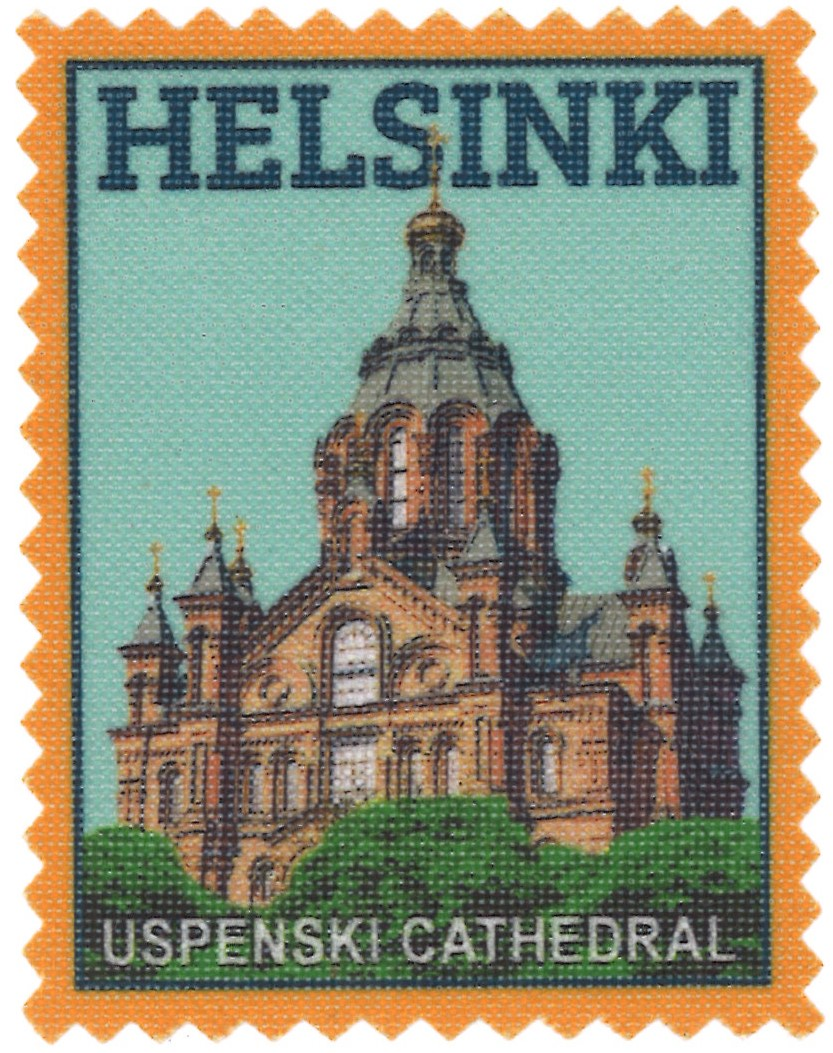 Iron-on patch Helsinki Uspenski Cathedral