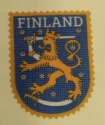 Iron-on patch Finland -Lion