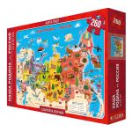 Puzzle-map Our Motherland-Russia