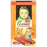 Alenka Chocolate with boiled condensed milk. Portion bars. 100 g