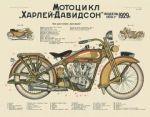 Poster. Harley-Davidson motorcycle
