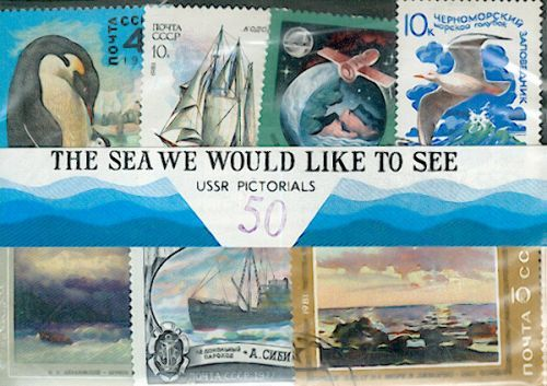 USSR Postage Stamps: The Sea We Would Like To See (25pcs.)