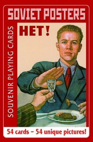 Souvenir playing cards Soviet posters Pelikortit Propaganda-aiheilla