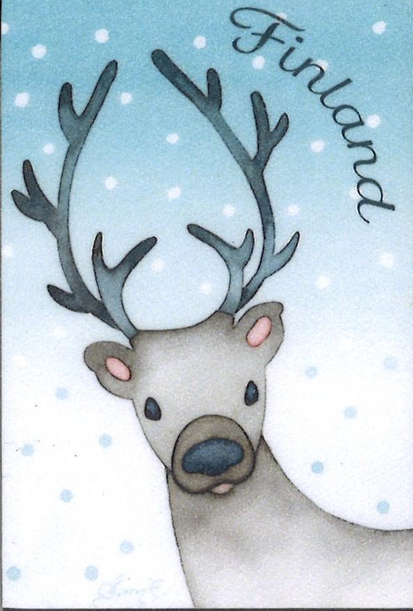 Reindeer frigde magnet - Finland