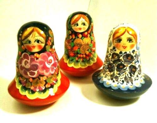 Matreshka Matryoshka (Nesting doll) roly-poly Lenochka (Art. 770)