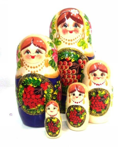 Matreshka Matryoshka (Nesting doll) Rowan - 5 pieces