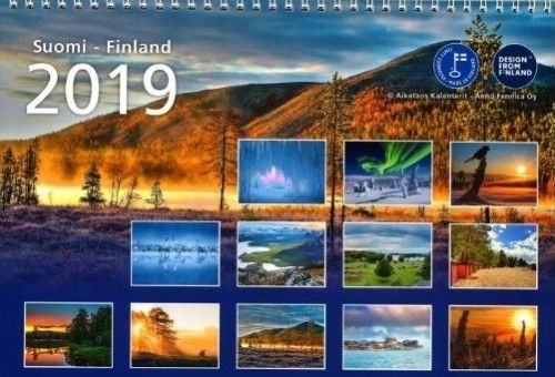 Calendar A3 format 2019 in Russian and Finnish without the Ruslania logo