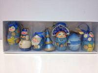 Набор елочных игрушек на новогоднюю елку, 7 штук