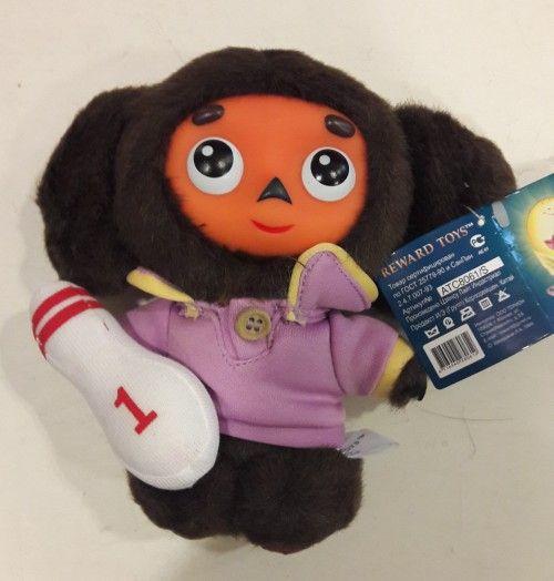 Speaking soft toy,Cheburashka. 16 cm