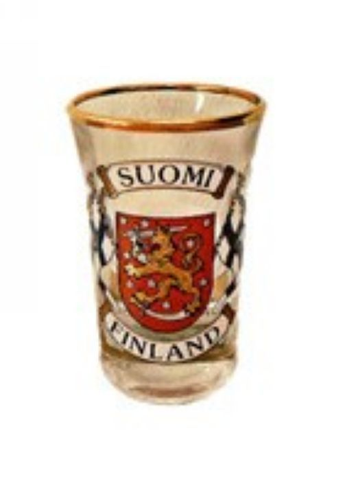 Souvenir shotglass - Flag and coat of arms