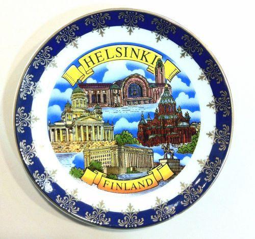 Ceramic souvenir plate 15 cm - landscapes of Helsinki