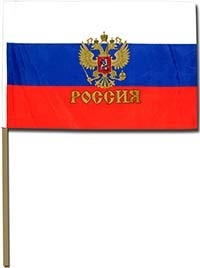 Flag of the Russian Federation 45 cm * 30 cm.