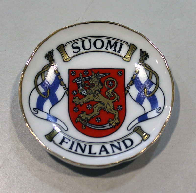 Plate with magnet 5cm - flag and coat of arms