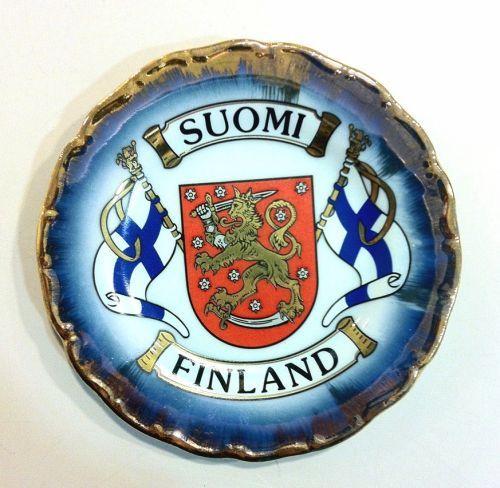Керамическая сувенирная тарелка 11 см - Флаги и герб