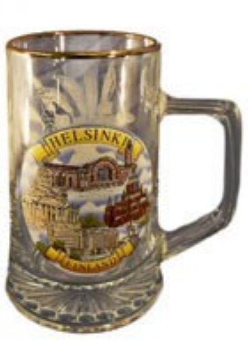 Souvenir glass beer mug, 0.4 l - Helsinki