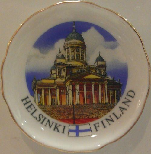 Souvenir plate and fridge magnet  6 cm - Helsinki, Dom