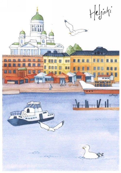 Postcard - Helsinki - Market Square