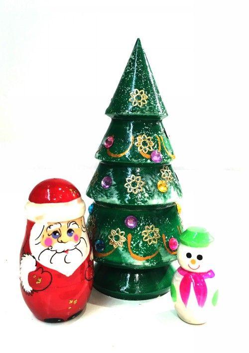 """Matryoshka """"Christmas tree"""", 3 items"""
