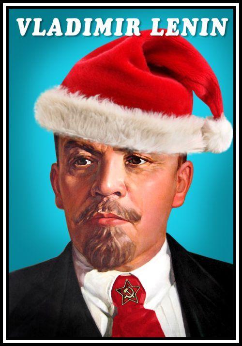 Спички. Владимир Ленин (в рождественской шапочке)