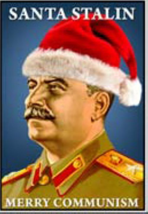 Matches. Santa Stalin. Merry Communism