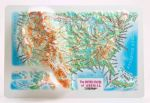 USA 3D magnet High raised relief map