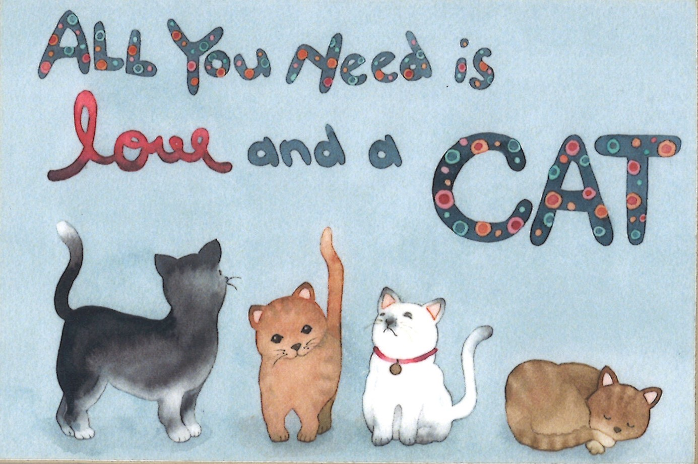 Magnet: All You need is love and a cat