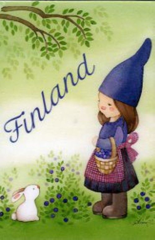 Fridge magnet: Little Forest Elf, Finland
