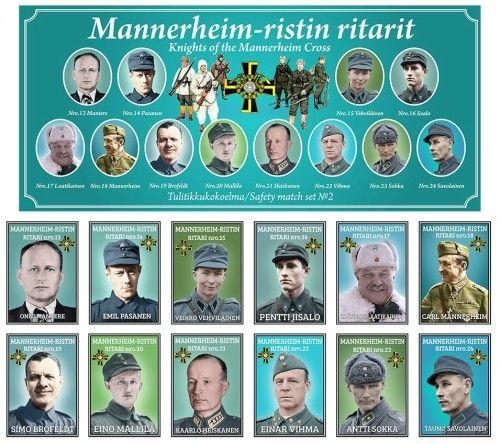 Matchboxes set Knights of Mannerheim Cross. Set 2