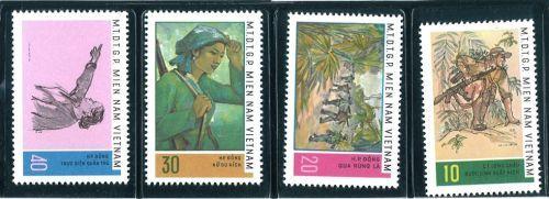 Postage Stamps M.T.D.T.G.P. MIEN NAM VIENAM . (4 pcs.)