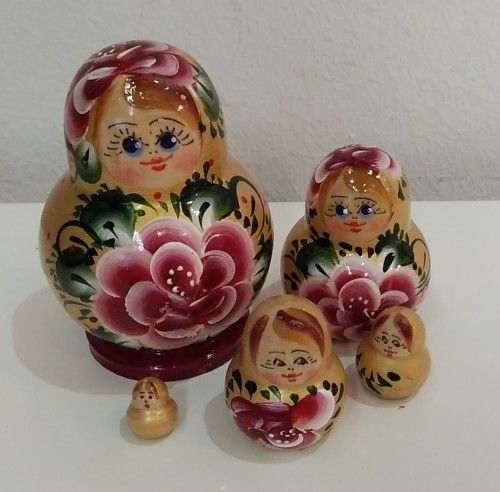Matreshka (Nesting doll) Blue-eyes 5 places