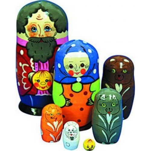 Matryoshka (Nesting doll) Fairy Tale Kolobok 7 items, (Art. 569)