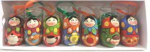 Набор елочных игрушек Матрешки