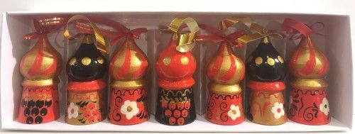 "Set of a Christmas Tree decorations ""The Temples"", 7 items"