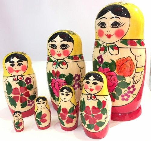 Matrioshka doll Semenovskaja,  7 items