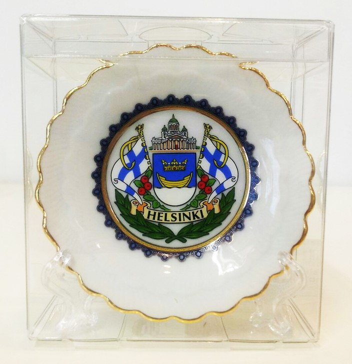 Souvenir plate with stand - Helsinki