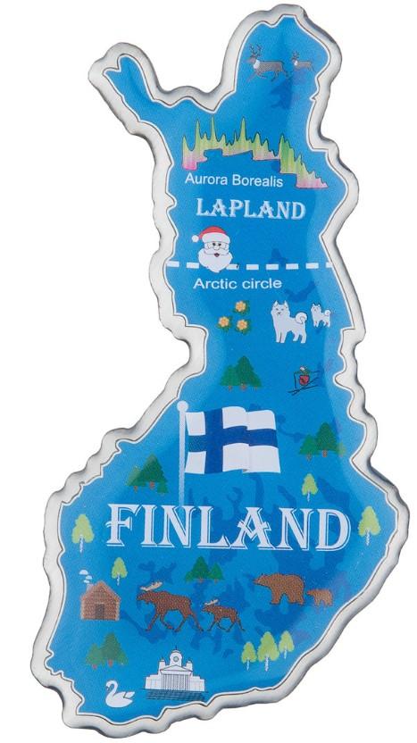 Magnet Finnish Map